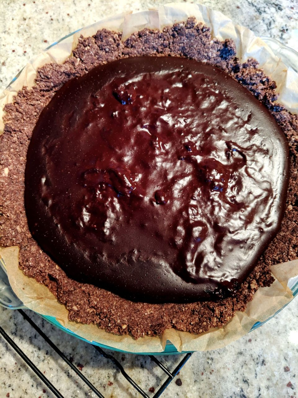Dairy-free chocolate pudding pie