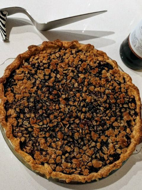 red wine berry pie