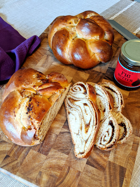 Fig Swirled Challah Bread Recipe Df The Fetching Foodie
